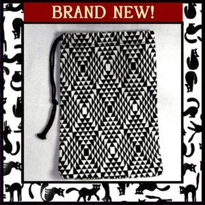 Handbags - Black & White Accessory Pouch Bag